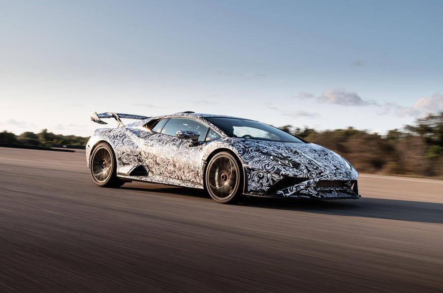 2020 Lamborghini Huracan STO yan tasarım