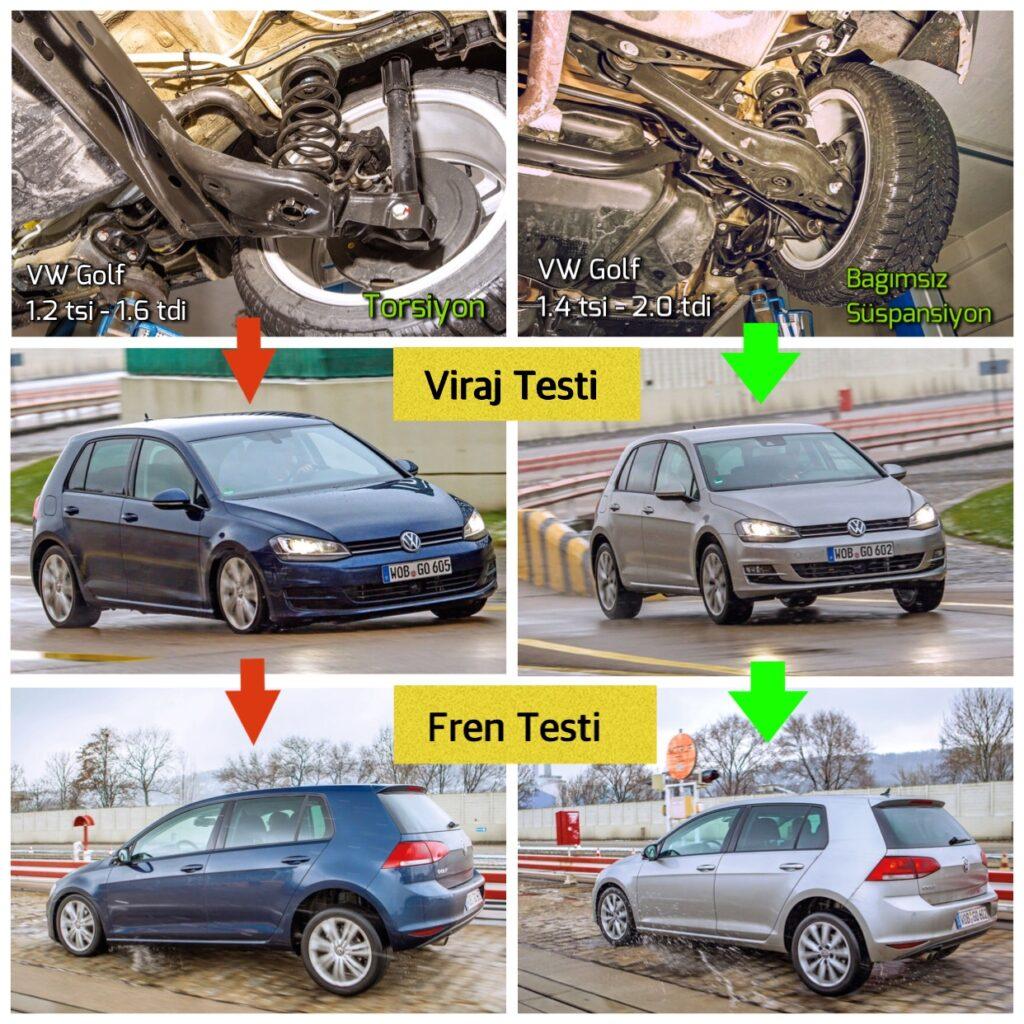 VW Golf Bağımsız ve Torsiyon