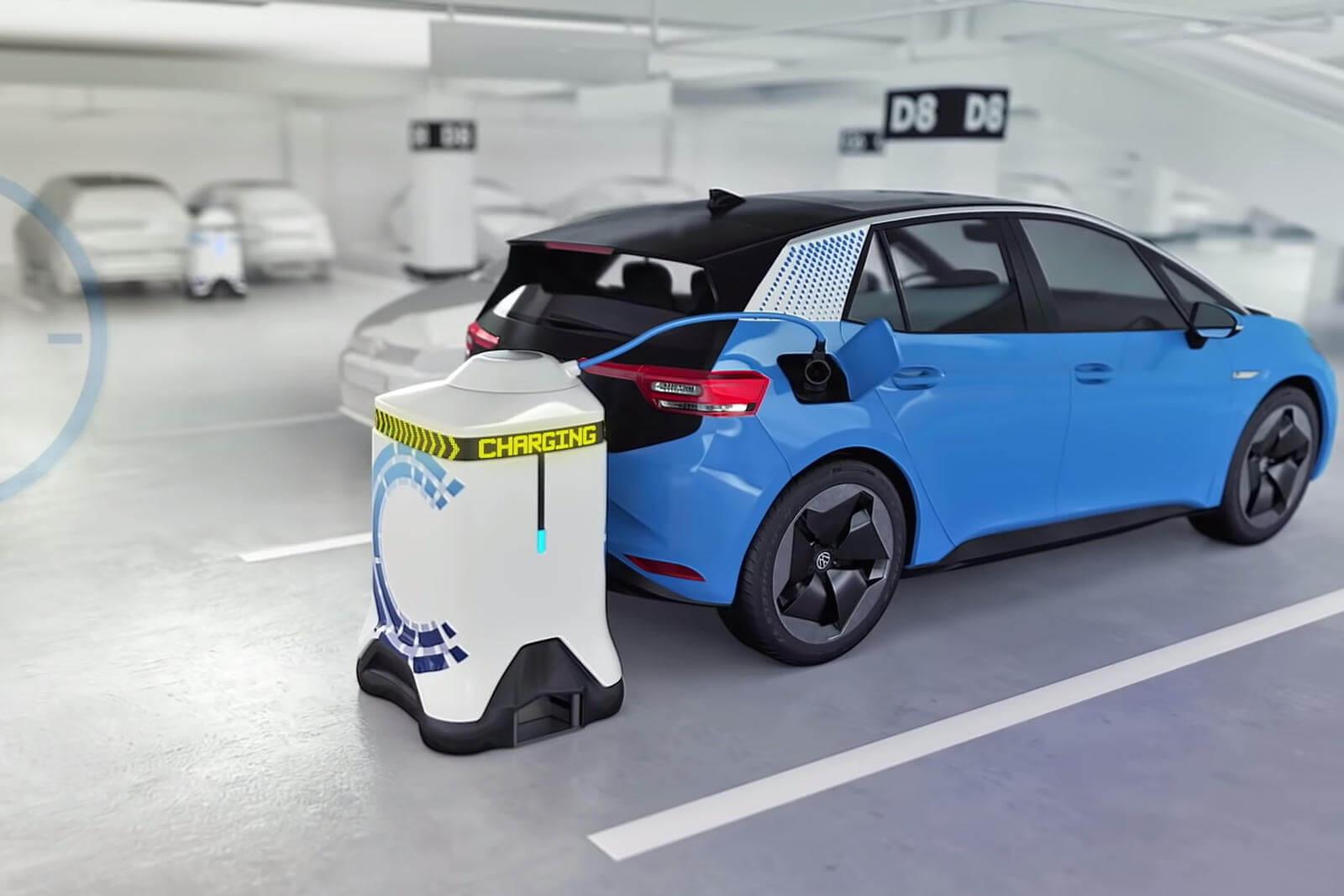 Elektrikli Araba Şarj Robotu