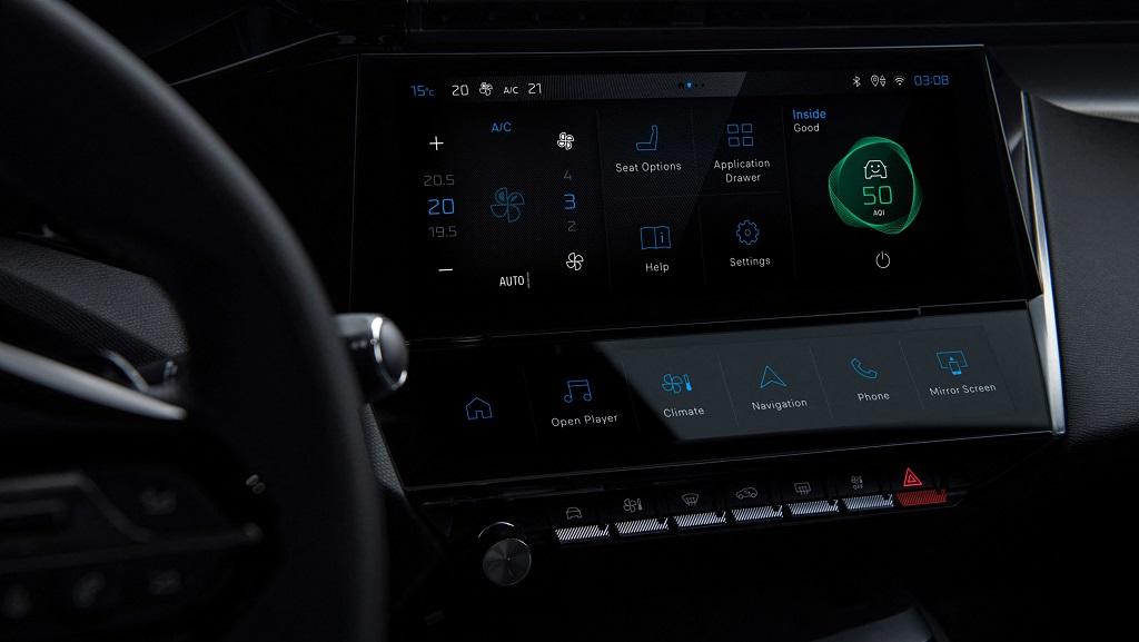2021 Yeni Peugeot 308 klima paneli