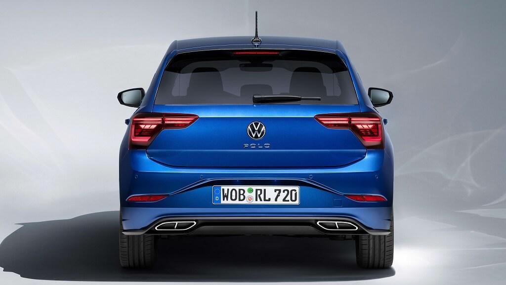 makyajlı Volkswagen Polo arka tampon