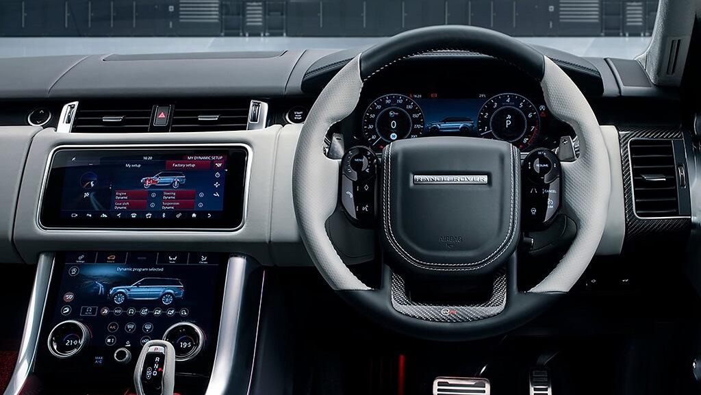 Yeni 2021 Range Rover Sport SVR Ultimate Edition iç tasarım