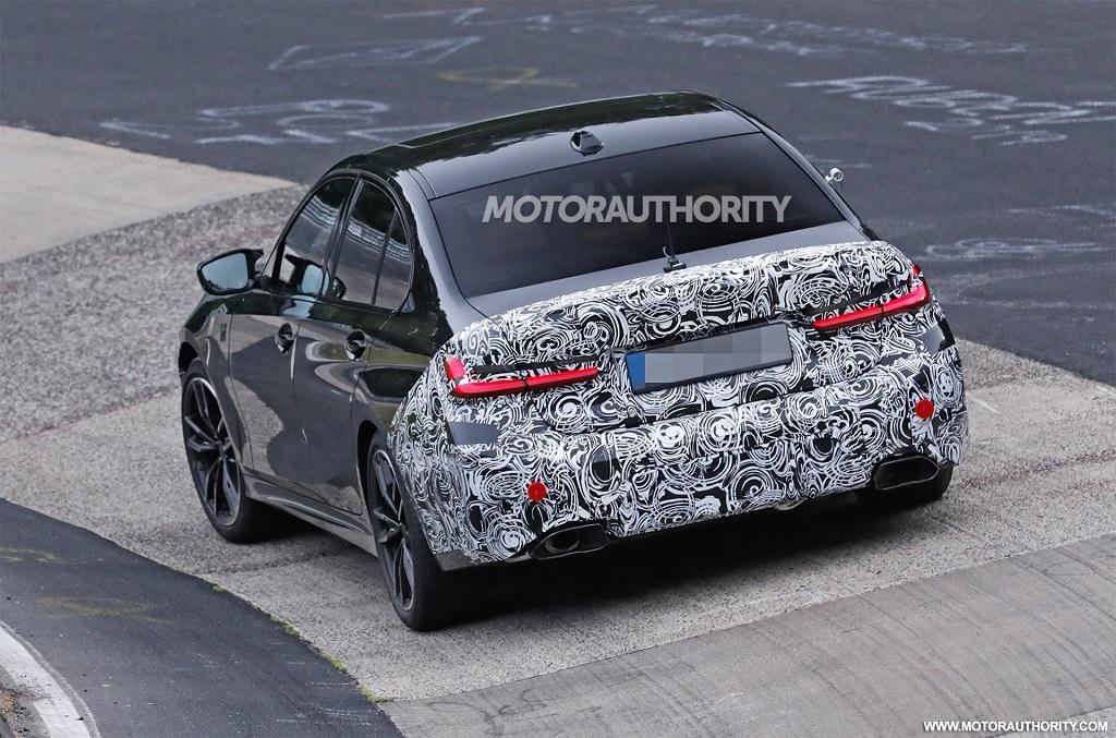 Makyajlı BMW 3 Serisi Casus arka tasarım