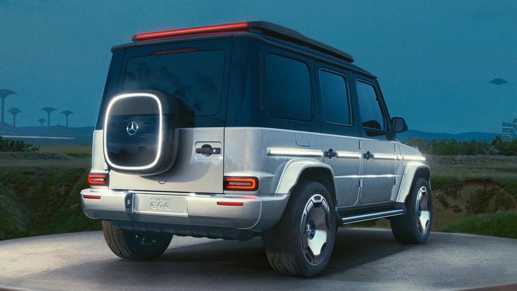 2024 Yeni Mercedes EQG Konsepti - Elektrikli G Serisi fotoğrafları