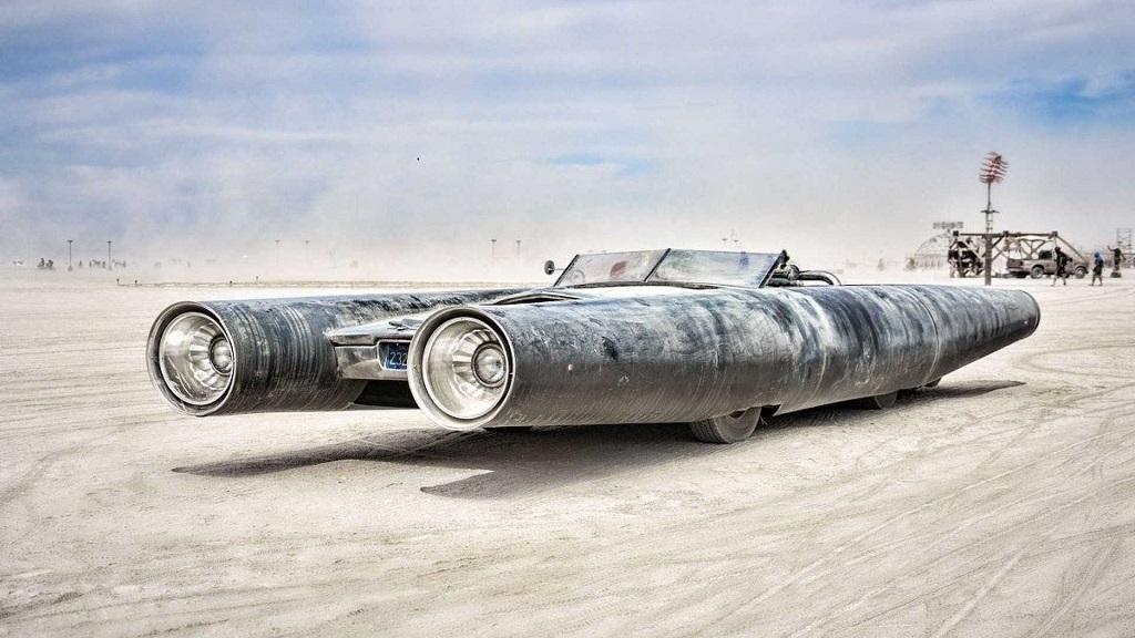 Burning Man Sergisi rocket car