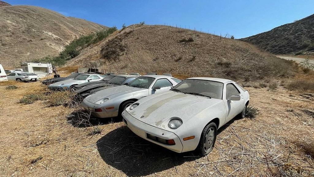 Terkedilmiş Porsche 928 mezarlığı